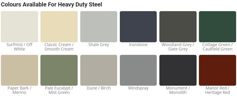 Col Western Sheds Colour Range