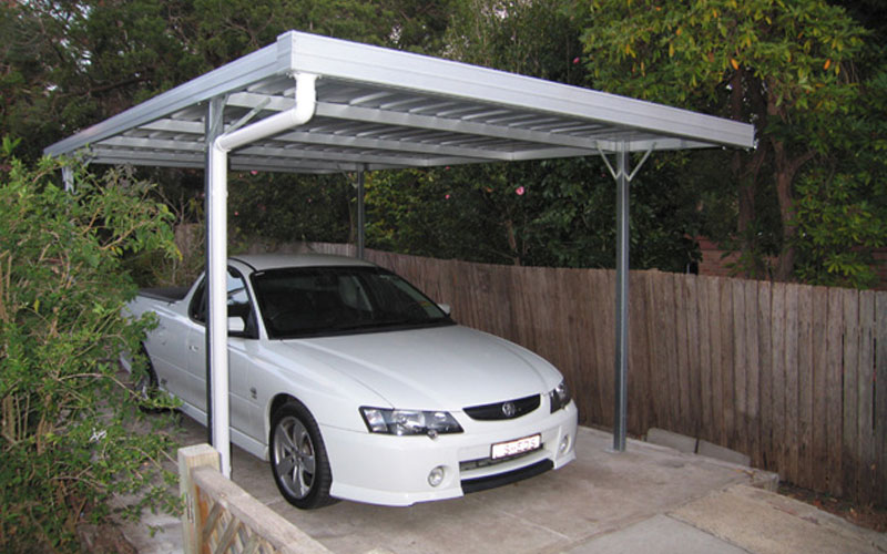 5 Car Metal Carport : C purlin frame carports col western sheds
