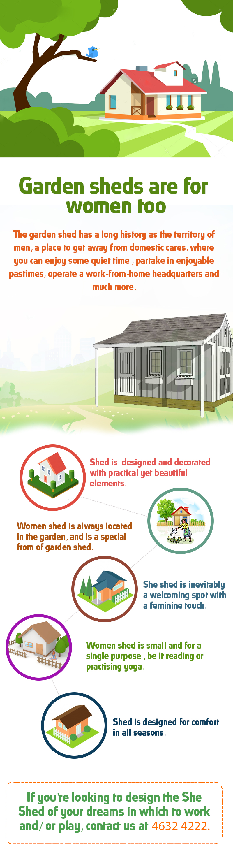 Garden sheds are for women too