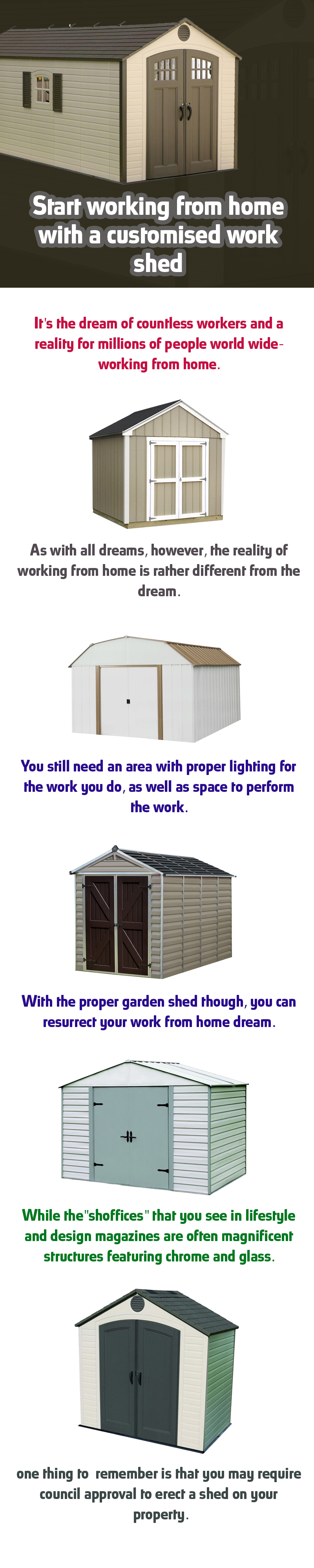 Start Working From Home With a Customised Work Shed