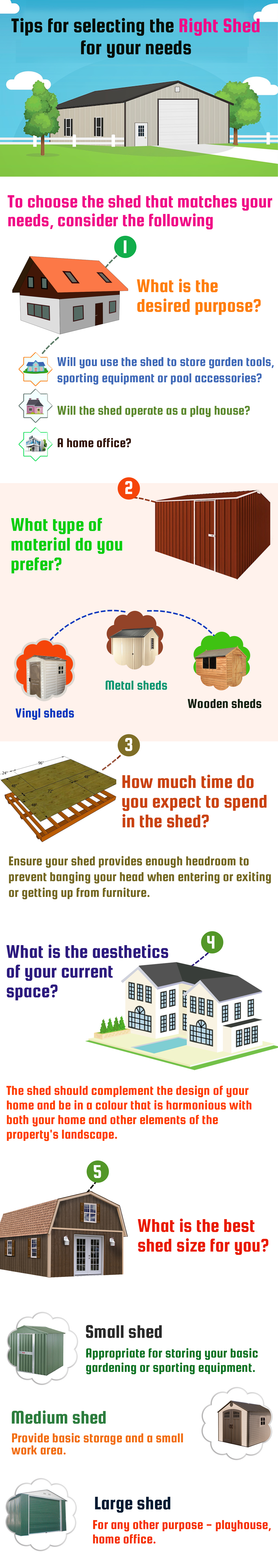 Tips for selecting the right shed for your needs