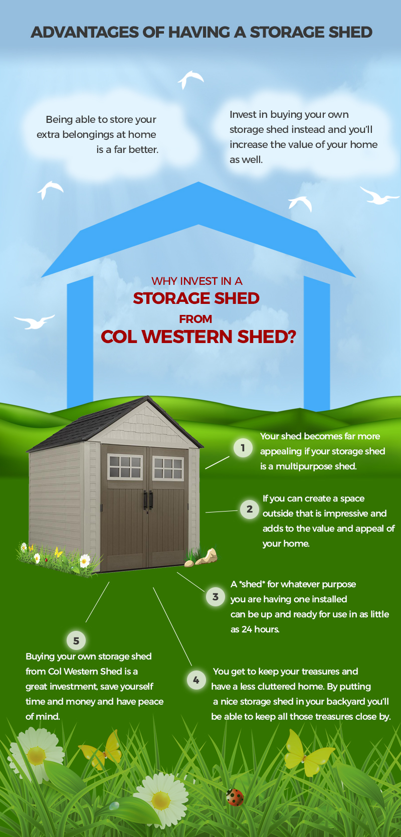 Advantages of Having a Storage Shed