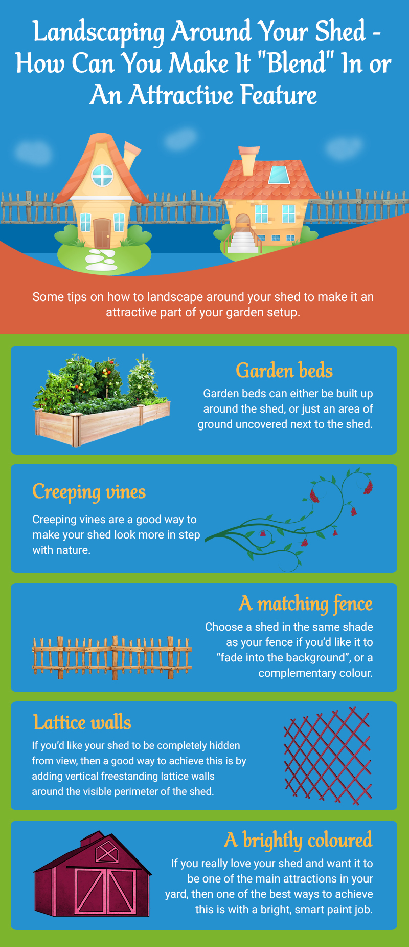 Landscaping Around Your Shed How Can You Make It Blend In or An Attractive Feature